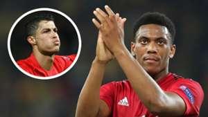 Anthony Martial Cristiano Ronaldo Man Utd