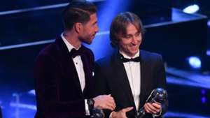sergio ramos luka modric - fifa best award - 23102017