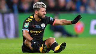 Sergio Aguero Manchester City Aston Villa Carabao Cup Final 2019-20