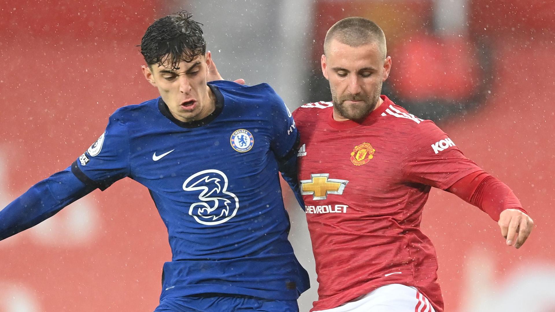 Kai Havertz Luke Shaw Man Utd Chelsea 2020-21