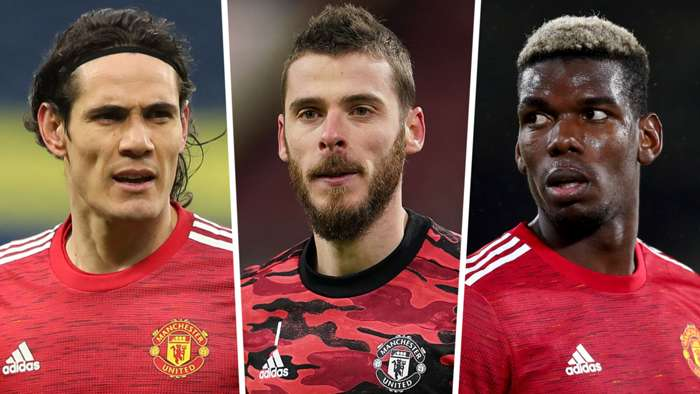 Edinson Cavani David De Gea Paul Pogba