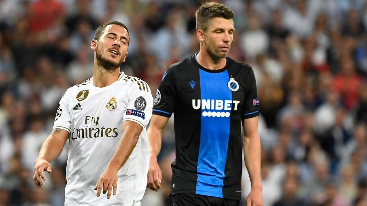 Eden Hazard Brandon Mechele Real Madrid Club Brugge UCL 01102019