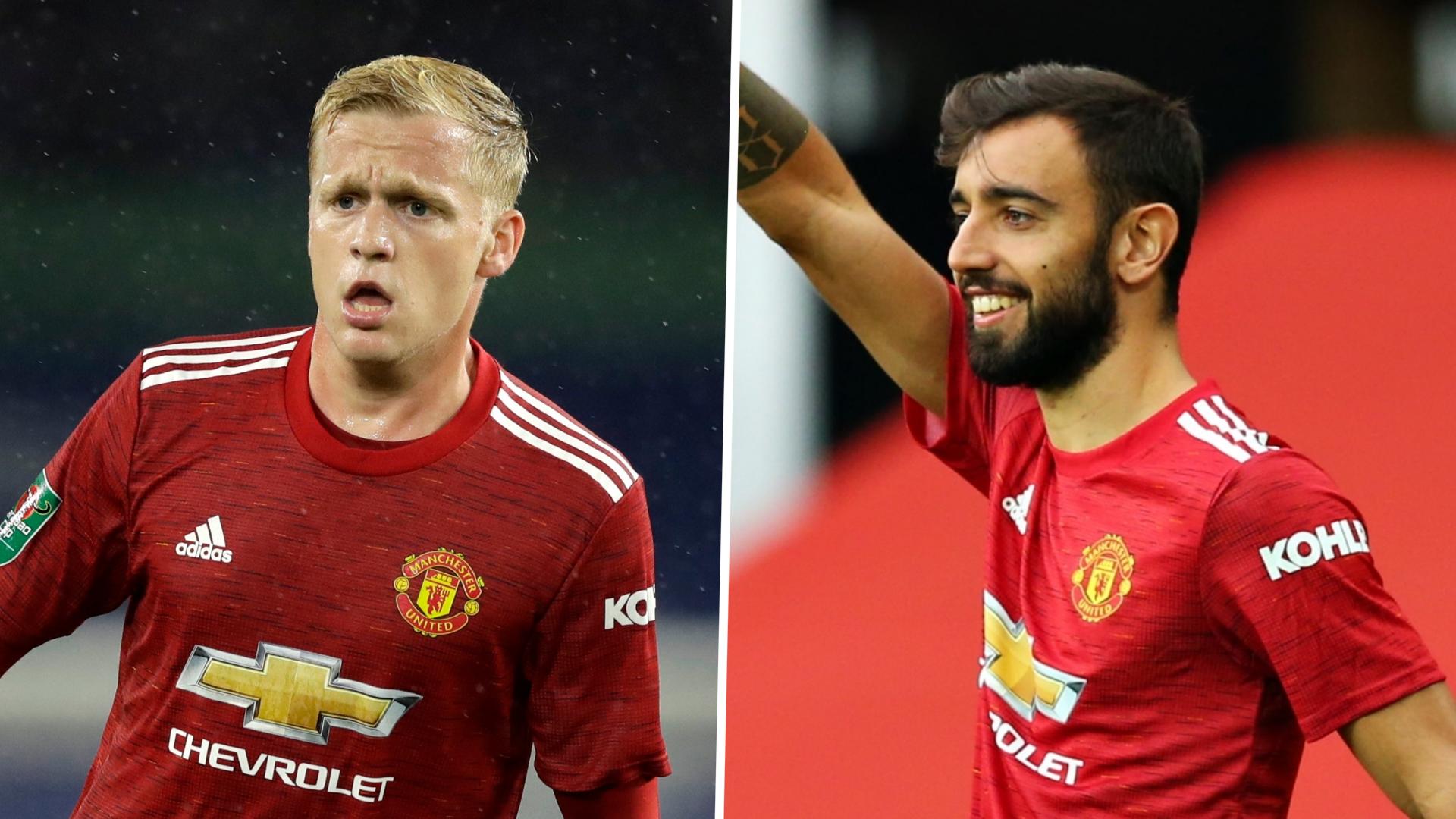 'Bruno benefited from Van de Beek' - Star midfielders could form key partnership for Man Utd, say Ferdinand and Scholes