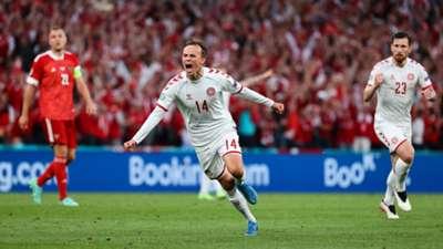 Mikkel Damsgaard Denmark Russia Euro 2020