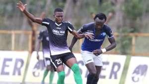 Faraj Odenyi of Chemelil Sugar and Kepha Aswani of Nakumatt FC