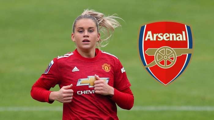Alessia Russo Manchester United Women Arsenal badge composite