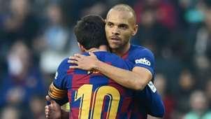 Braithwaite Messi Barcelona Eibar LaLiga