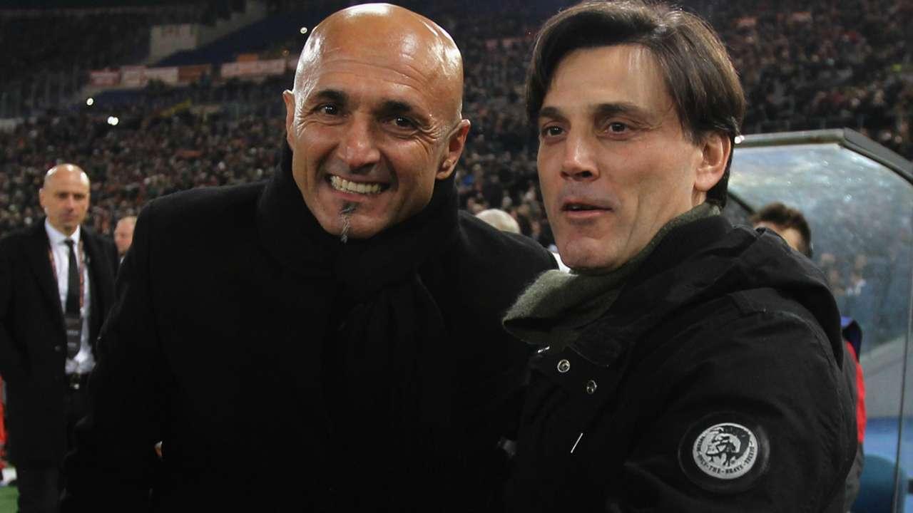Spalletti Montella Roma Milan Serie A