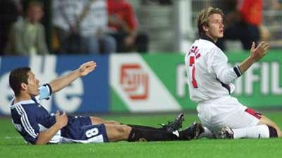 Diego Simeone Argentina David Beckham England World Cup 1998