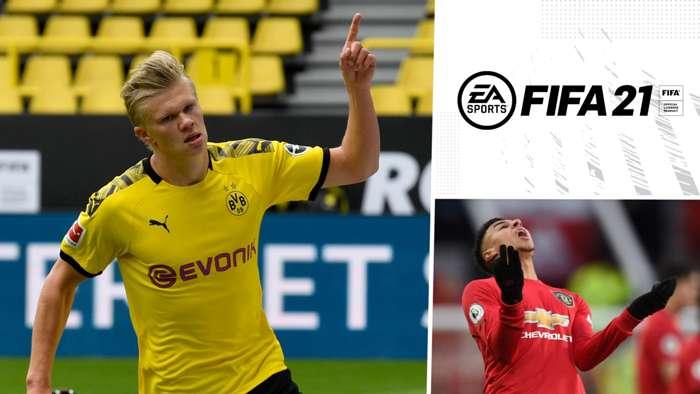 GFX FIFA 21 Ratings Haaland Lingard