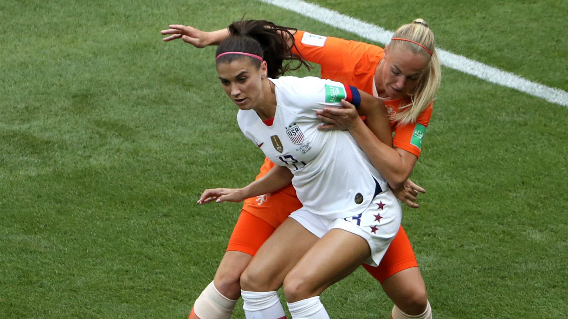 Alex Morgan Stefanie Van der Gragt USWNT USA Women's World Cup 2019
