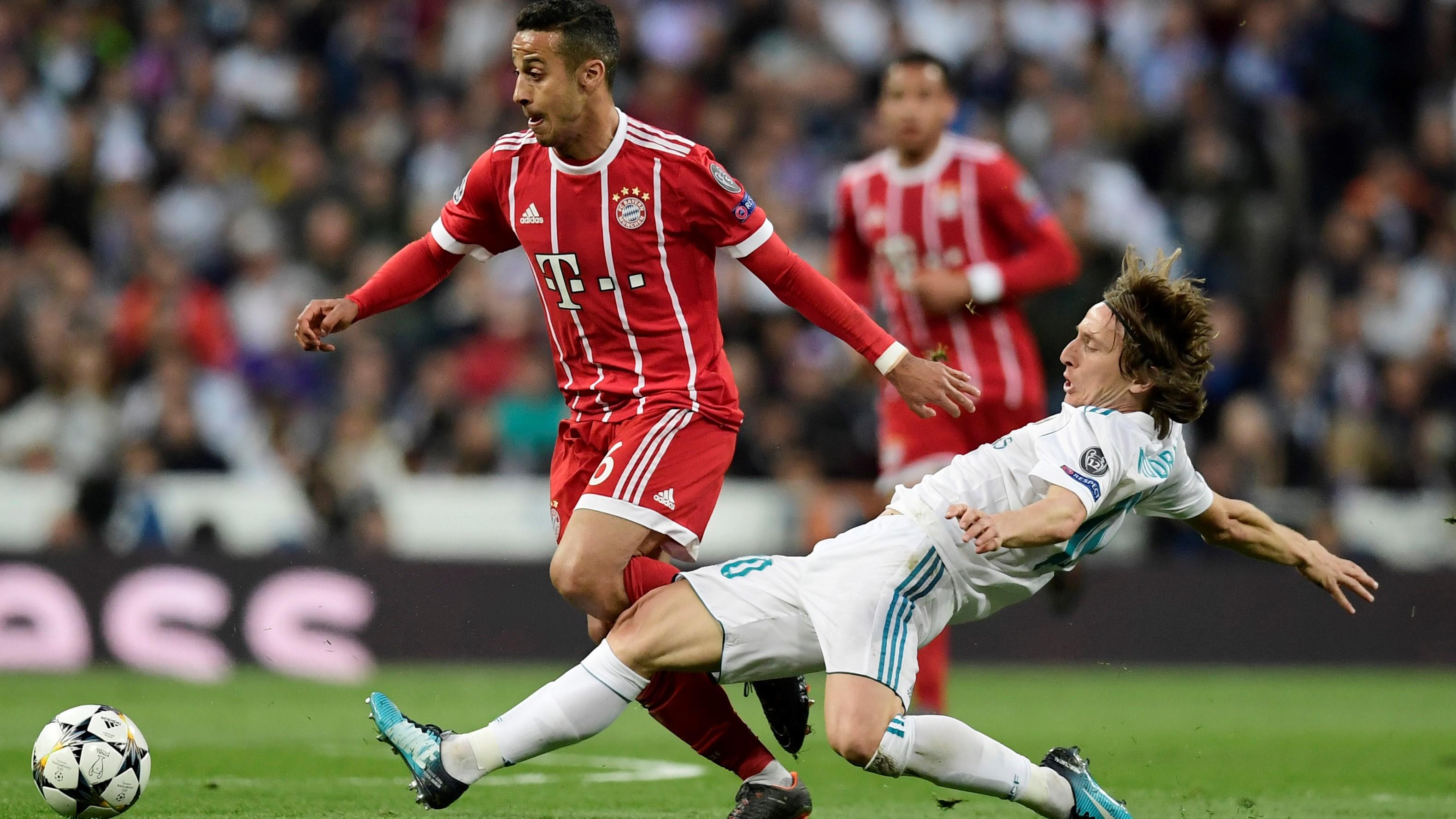 Thiago Alcantara Luka Modric Real Madrid Bayern Munich UCL 01052018