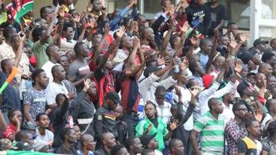 Harambee Stars fans at Kasarani.