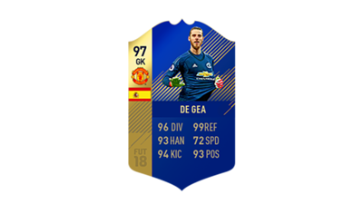 FIFA 18 Ultimate Team of the Season De Gea