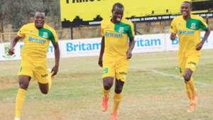 Mathare United celebrates against Zoo Kericho.