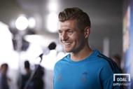 22일(현지시간) UEFA 미디어데이에 참석한 레알 마드리드 미드필더 토니 크로스. 사진=게티이미지