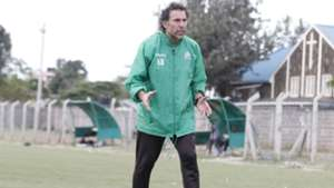 Gor Mahia coach Hassan Oktay at Camp Toyoyo.