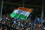 Fans turn up at the Mumbai Football Arena for India NT