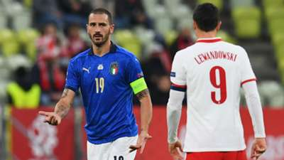 Bonucci Lewandowski Poland Italy Nations League