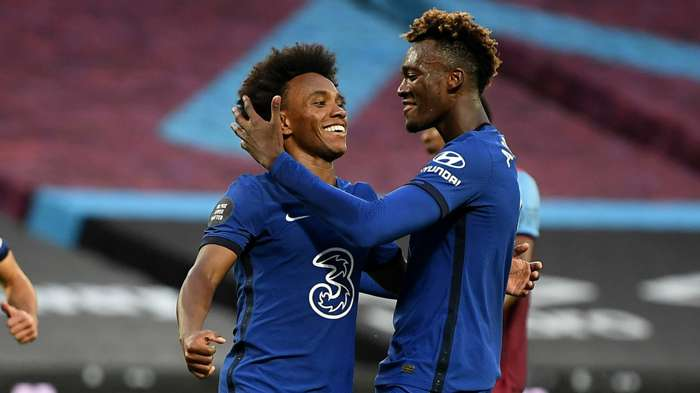 Willian Tammy Abraham Chelsea