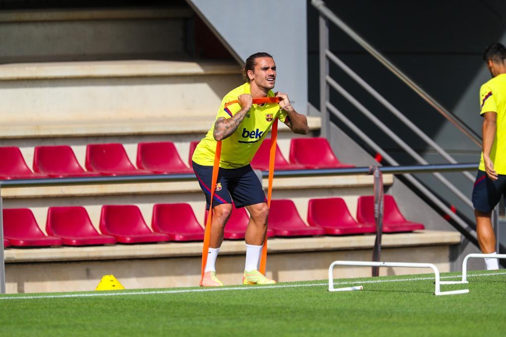 Griezmann et Dembélé ont repris avec le groupe — FC Barcelone