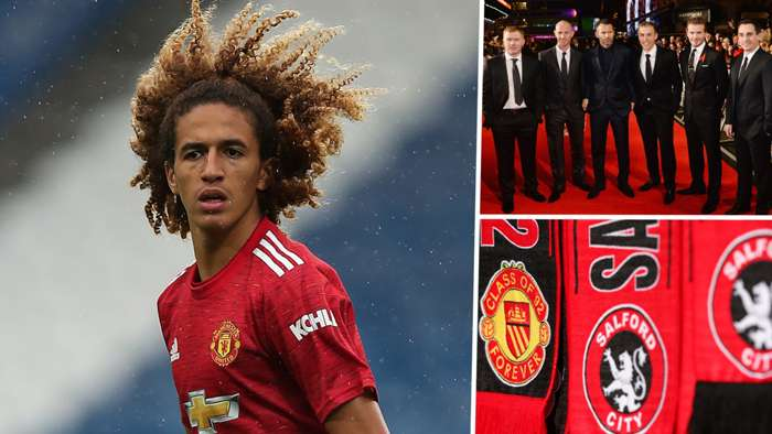 Hannibal Mejbri Class of 92 Manchester United Salford City GFX