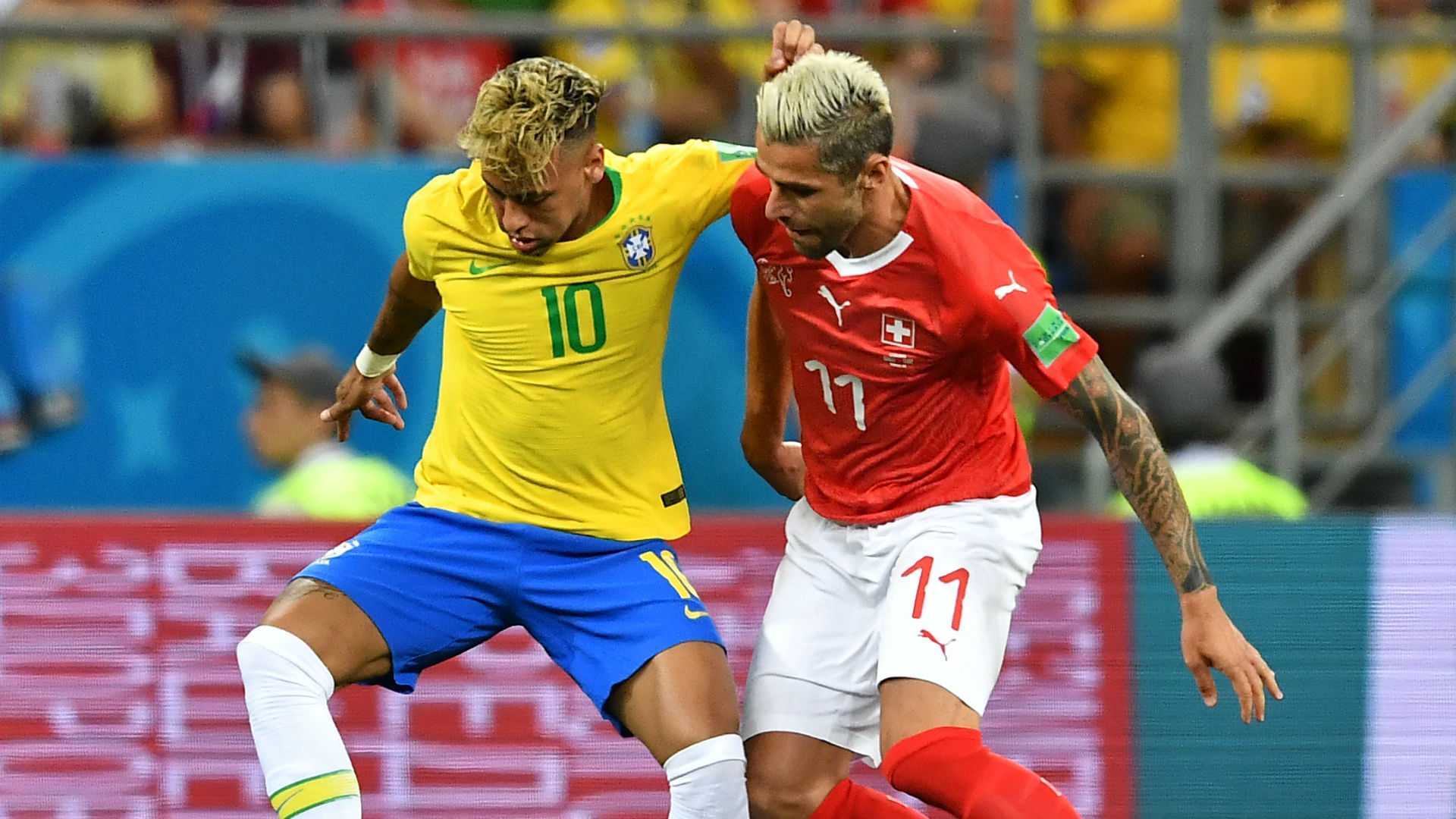 Neymar Valon Behrami Brazil Switzerland World Cup 2018