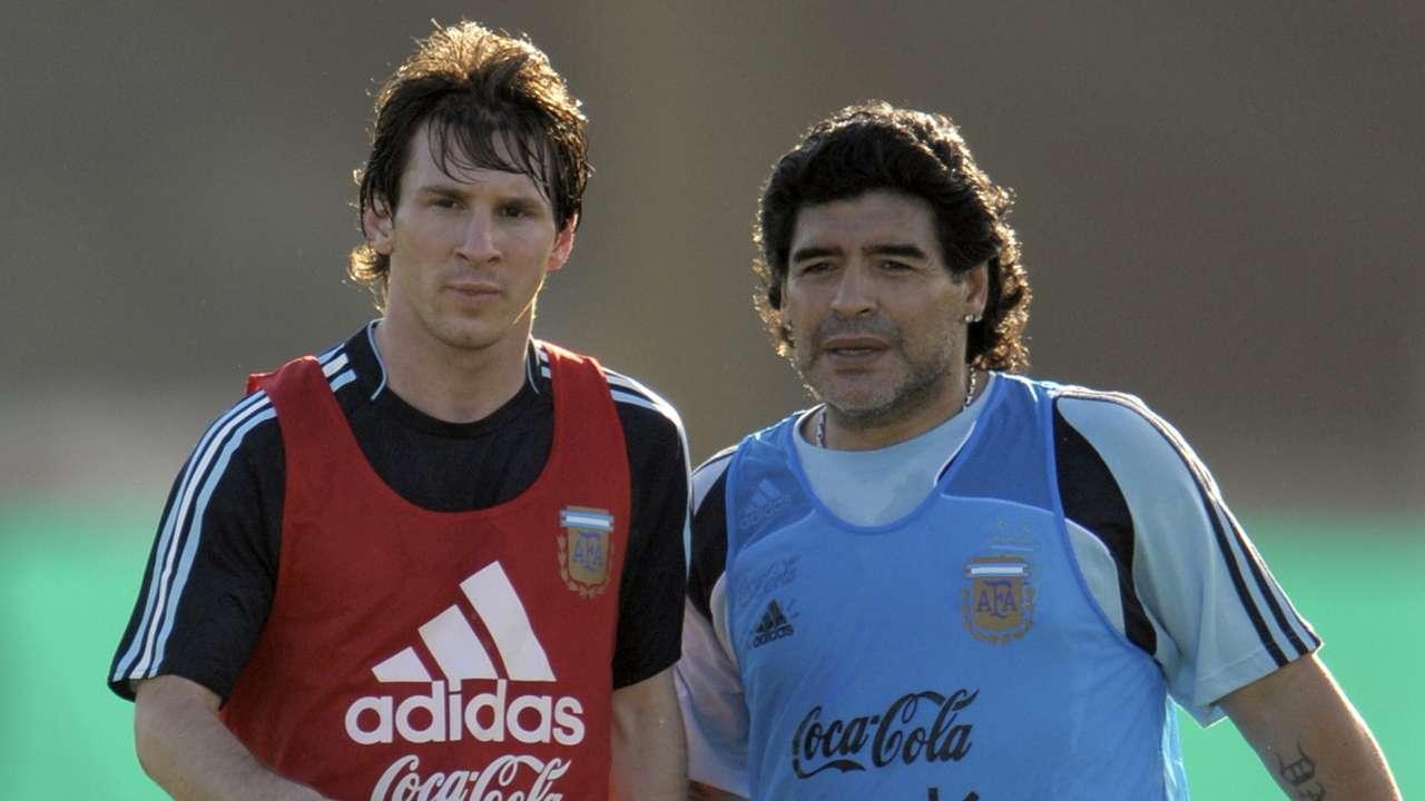 Lionel Messi, Diego Maradona, Argentina