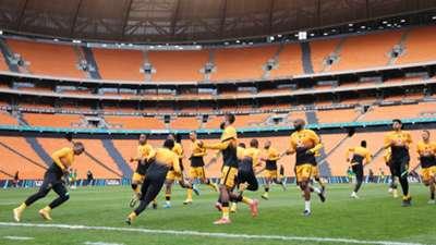 Kaizer Chiefs warm up FNB Stadium