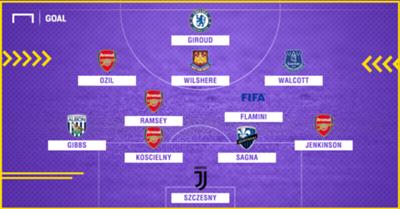 Mesut Ozil first match Arsenal XI