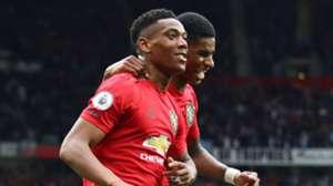 Anthony Martial Marcus Rashford Manchester United vs Chelsea 2019-20