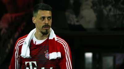 FC Bayern München Bayer Leverkusen Sandro Wagner Bank Bench