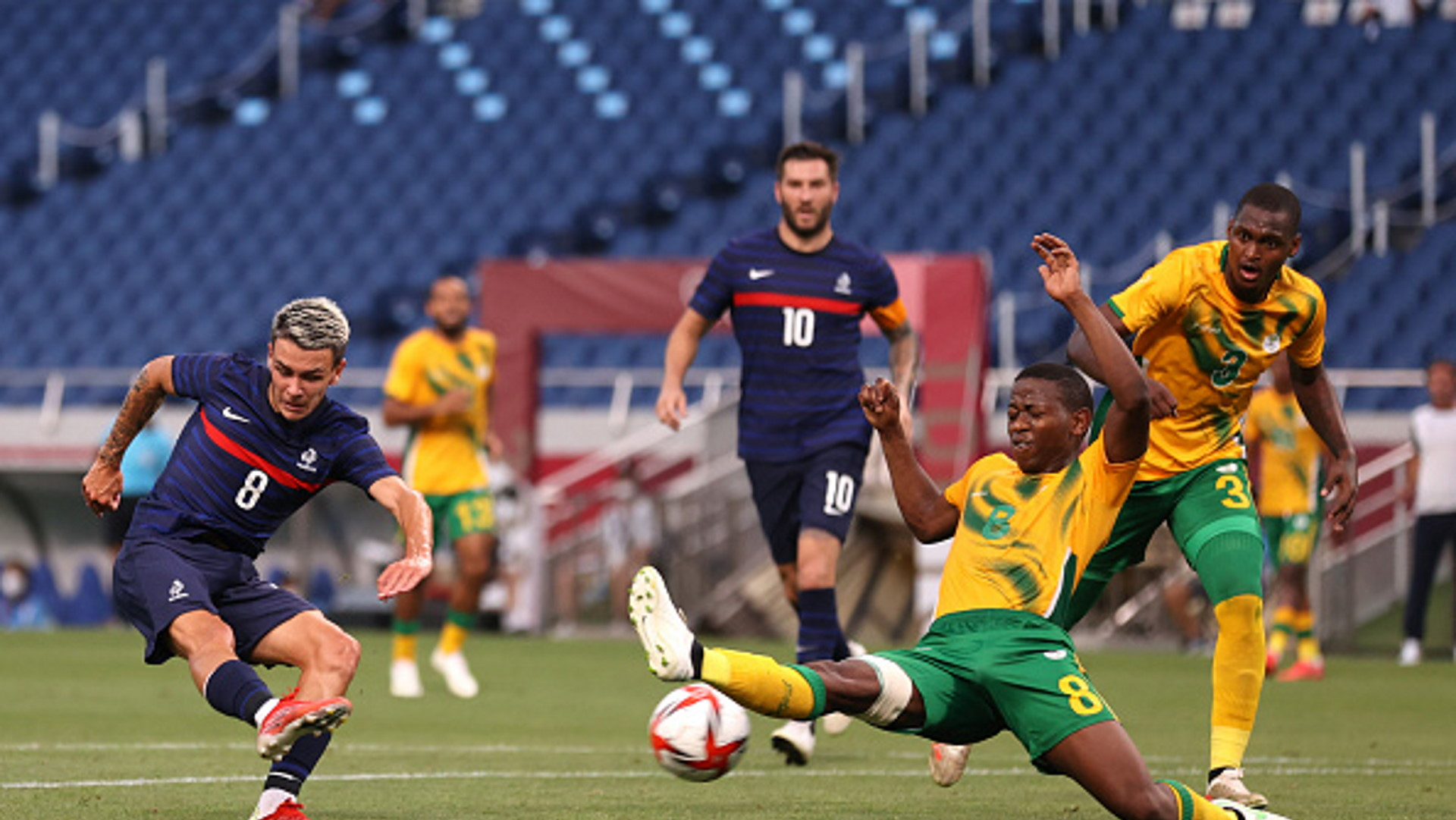 France U23 4-3 South Africa U23: Gignac hat-trick leaves Notoane's side on the brink of Olympic elimination