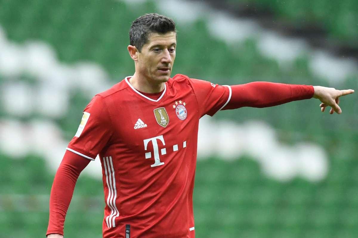 Lewandowski Moves To Second In All Time Bundesliga Scoring Charts With Werder Bremen Strike Goal Com