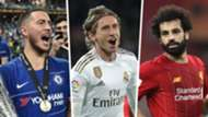 Eden Hazard Luka Modric Mo Salah