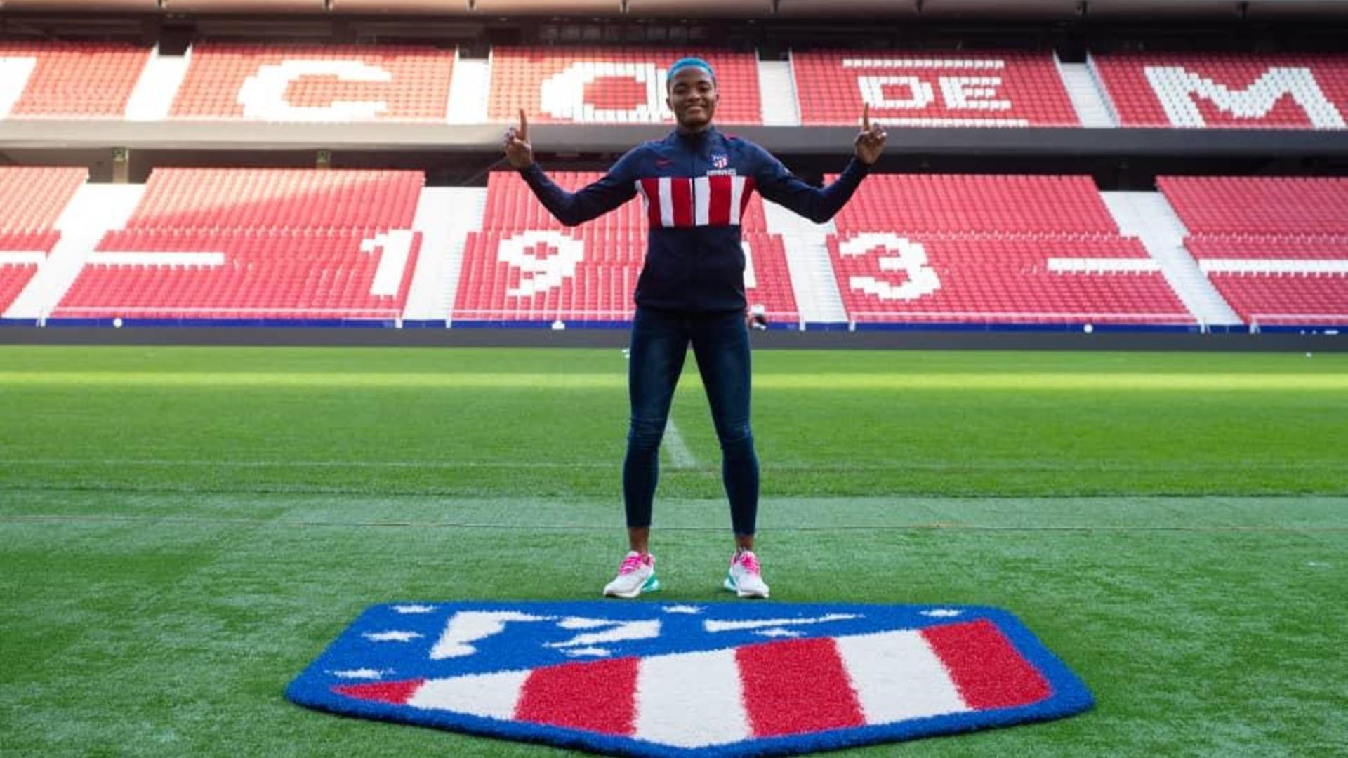 Rasheedat Ajibade: Nigeria striker joins Atletico Madrid from Avaldsnes