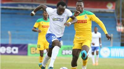 Kepha Aswani of Sofapaka v Mathare United.