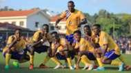 KCCA FC players celebrate.