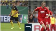 Mats Hummels (Borussia Dortmund) et Andre Hahn (Augsbourg), 1ère journée de Bundesliga, 17 août 2019