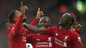 Georginio Wijnaldum Naby Keita Sadio Mane Liverpool 2019