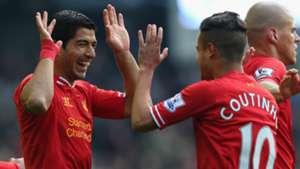 Luis Suarez Philippe Coutinho Liverpool