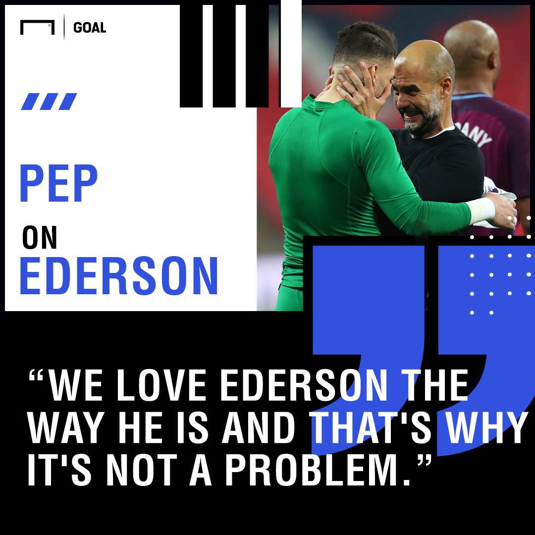 Ederson Pep Guardiola Manchester City PS