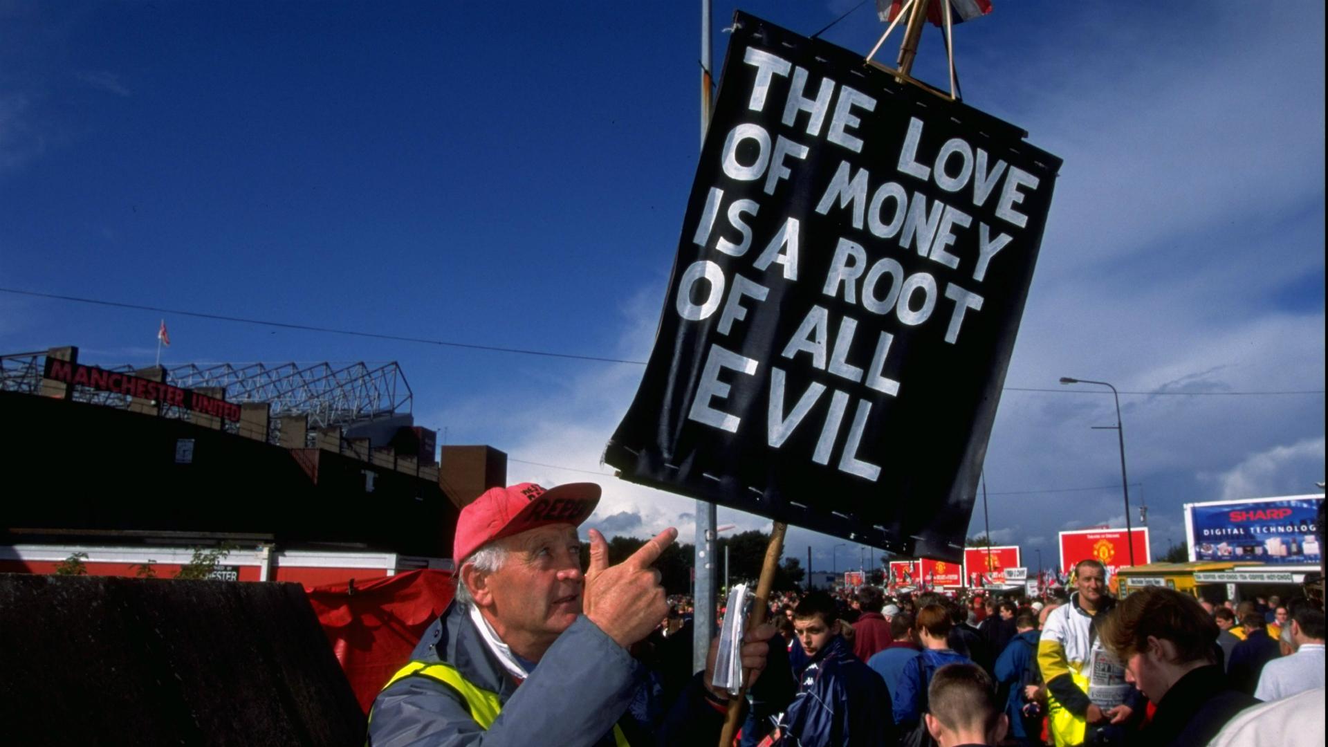 Manchester United Rupert Murdoch protest