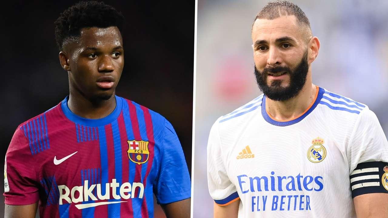 Ansu Fati Barcelona Karim Benzema Real Madrid 2021-22