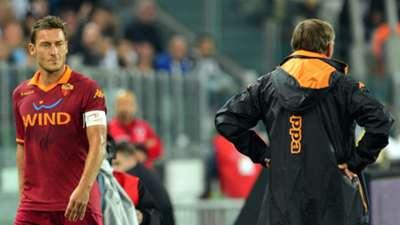 Francesco Totti Zdenek Zeman Roma