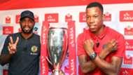Ramahlwe Mphahlele of Kaizer Chiefs with Happy Jele of Orlando Pirates