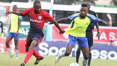 Whyvonne Isuza of AFC Leopards v Singida United.
