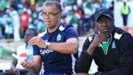 Gor Mahia coach Steven Polack vs Patrick Odhiambo.