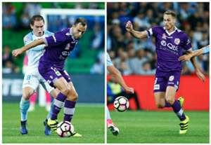 Richard Garcia Rostyn Griffiths Melbourne City v Perth Glory A-League 23042017