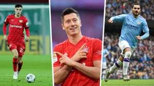 Robert Lewandowski, Kai Havertz und Ilkay Gündogan stehen im Goal Soccer Manager 2020 Dream Team